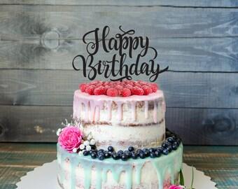 Birthday cake Topper, Customizable birthday cake topper, birthday Party, party decorations, birthday decorations, happy birthday cake topper