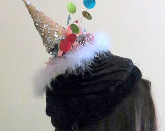 Tacky Ugly Christmas Sweater Party Hat  Unique and Perfect Accessory for your sweater  Womens, Christmas Tree Hat, funny hat, Festive Hat