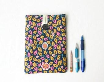 IPad Mini 4 case, fabric ipad mini sleeve, floral tablet sleeve, Samsung Galaxy tab 7, Ipad mini cover, gift for teen, handmade in the UK