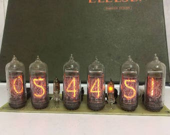 Wonderful gift for valentine's day! Nixie Tube Clock IN14 Without the backlight!