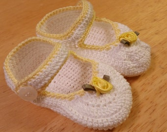 Baby Girl Mary Jane Booties Baby Shoes Christening Baby Booties Crochet  Newborn Girl Baby Girl Booties Reborn Doll Baptism Baby Shower Gift