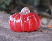 Red and Gold Blown Glass ...