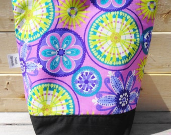 Insulated Lunch Bag - Carnival Bloom Orchid
