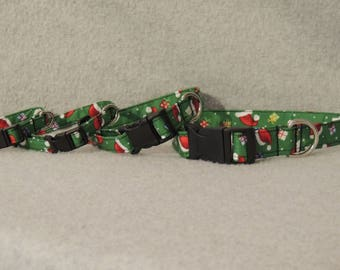 Dog Collar You Pick Size Santa Hats and Presents