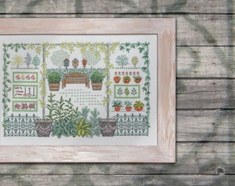 My Aunties Garden - cross stitch pattern download