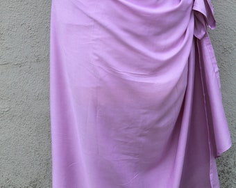 Light purple, Lavender color-Pareo-solid color-full  and half sized-rayon- sarong, pareau, Tahitian costume skirt, Tahitian pareo,