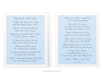 My wish lyrics etsy my wish for you set of 2 inspirational print song lyrics wall art gift ideas christmas gift birthday gift graduation gift d15 s1 stopboris Images