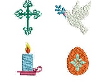 Mini Easter Set- Machine Embroidery Design