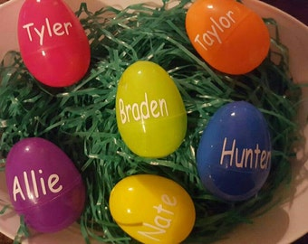 6 Personalized  Jumbo Easter Eggs Party Favors, Party Favor, Easter Favor, Easter Egg, Easter Party