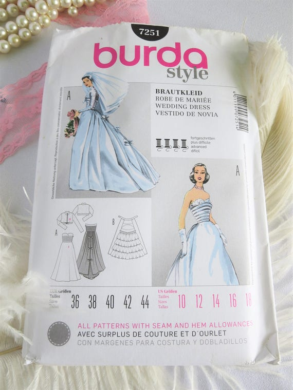Wedding Dress Pattern, Vintage Wedding Dress, Pattern, 50s, 50s ...