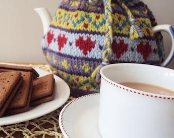 Hearts Fairisle Tea Cosy Pattern