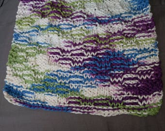 Hand knit dish cloth/ wash cloth
