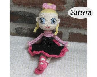 BALLERINA - Amigurumi Pattern Crochet Doll Pattern - Ballet Dancing - Photo Tutorial - PDF - Plush Doll Girl
