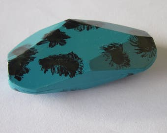 1 large oval Pearl acrylic mixed pattern (PV21-2)