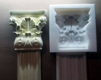 Silicone rubber for gypsum Cornice mould plaster decorations mould making Silicone mold for the production of plaster baguette Tile mold