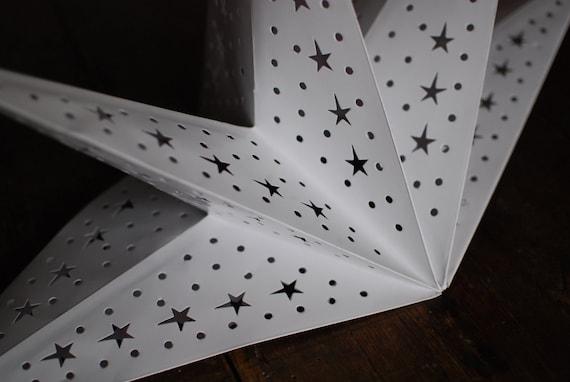 White star lantern white paper star lantern star lampshade white star lantern white paper star lantern star lampshade christmas light aloadofball Gallery