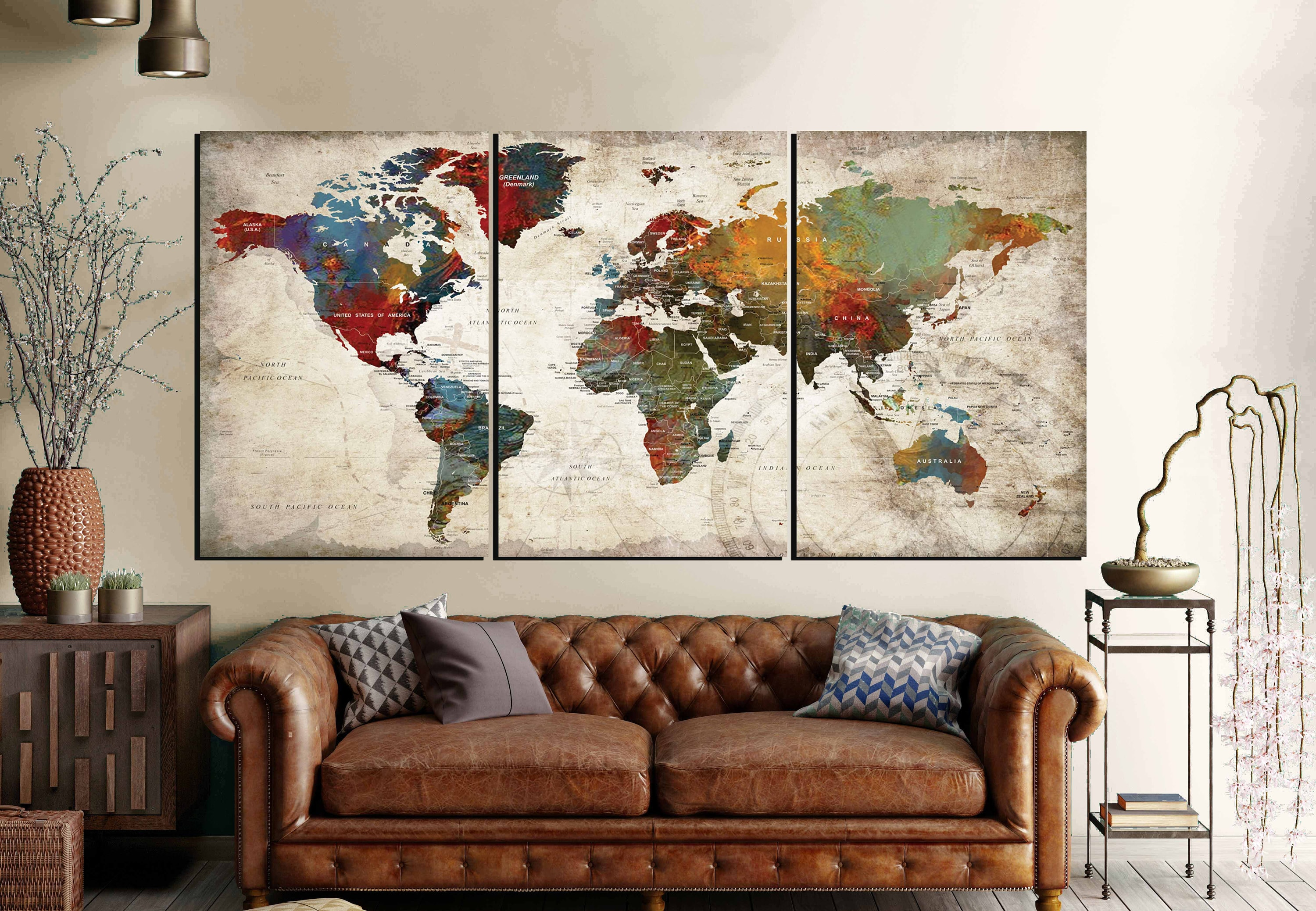 World map wall art 3 panel canvas artworld map large canvas panels world map wall art 3 panel canvas artworld map large canvas panelsworld map artworld map canvasworld map abstract artworld map push pin gumiabroncs Image collections