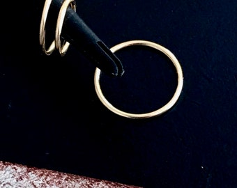 Small gold hoop earring, 14k gold nose ring, Hoop gold cartilage earring, gold septum piercing jewelry 6mm 22g gold tragus hoop 8mm 10mm 20g