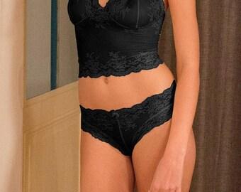 Strapless black Camille