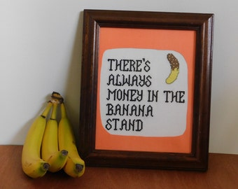 Banana Stand  Modern Cross Stitch Kit