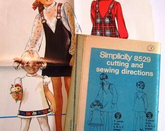 Girls Jumper and Dress Size 8 Vintage 1960s Simplicity Pattern 8529 UNCUT / NO ENVELOPE