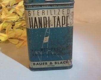 "Vintage Bauer & Black ""HANDI-TAPE"" TIN"