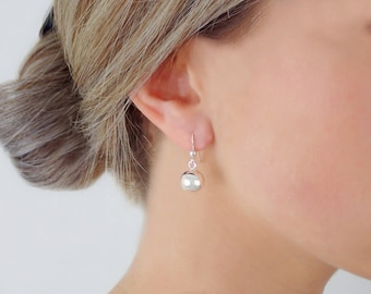 925 Sterling Silver Little Ball Earrings