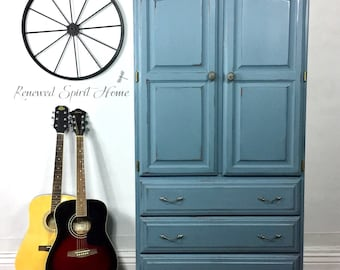 Rustic Armoire, Farmhouse Armoire, Country Charm Armoire, Rustic Wardrobe, Farmhouse Wardrobe, French Country Armoire