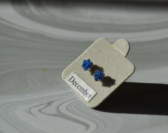 December Tanzanite Birthstone Earrings