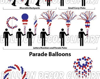 Parade Decor Flier in Red-White-Blue