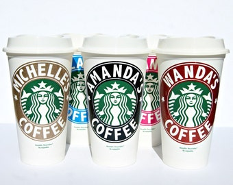Starbucks Personalized Coffee Cup, Reusable Starbucks  Coffee Cup, Starbucks Cup, Personalized Starbucks Mug, Custom Starbucks, Coffee Mug