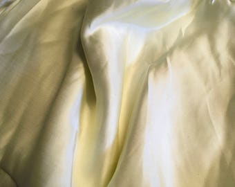 Genuine cream silk sateen fabric