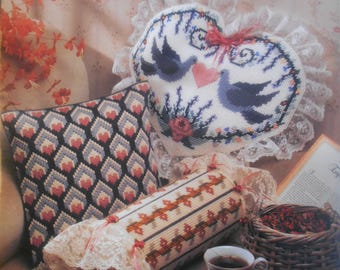 Decorative Pillows, Annie's Attic, Pattern Leaflet #87P54, 1990