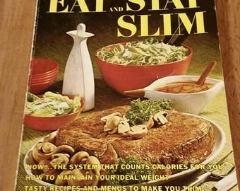 On Sale Paperback Better Homes and Gardens Eat and Stay Slim Vintage Cook Book 1968