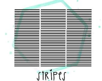 Stripes Vinyl Nail Stickers