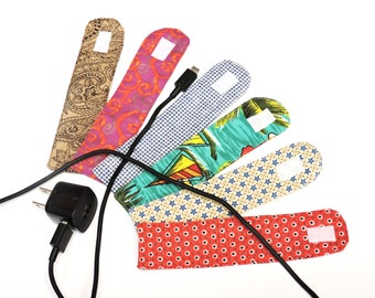 Fabric Cord Keepers, Cord Wrap Organizers, Tidy Cable n Cord Storage Organization, Cable Tie Wraps, Computer Cable Holder itsyourcountry