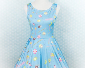 Choose Your Weapon, Skater Dress, Fairy Kei, Pastel Goth, Cute Fun Clothing, Plus Size, Sailor Moon, Magical Girl