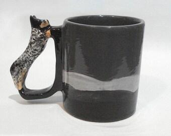 Blue Australian Cattle Dog Mug Blue Heeler Lover Coffee Cup Herding Dog Novelty Drinkware