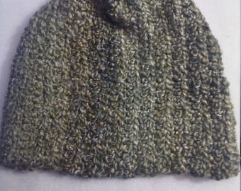half price stocking hat in shades of green