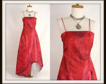 Zombie Prom Dress Costume. Post Apocalyptic. Bloody Dress. Pink Sparkly Zombie Prom Gown. Vampire Queen. Halloween Costume. Size 3/4 xs