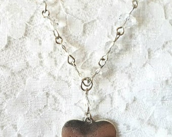 Heart Shaped Witch Necklace with Beads