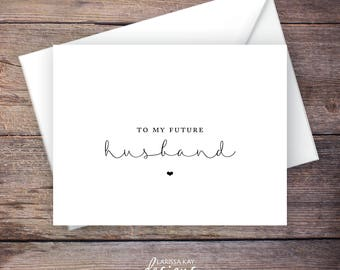 To My Husband on our Wedding Day Card, On My Wedding Day Cards, Black and White, Instant Download - Brynley