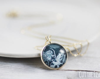 Emerald Necklace - Jewelry - 14k Gold Jewelry - Emerald Jewelry - Gold Filled Jewelry - Gold Plated Jewelry - Art jewelry (8-2N)