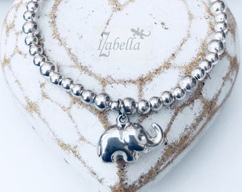 Sterling Silver ELEPHANT Charm Bracelet