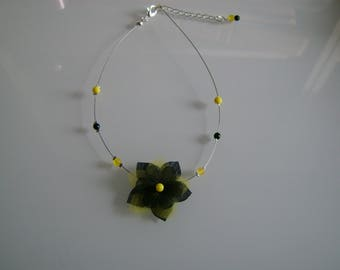 Child girl/woman ceremony necklace Black/Yellow (bee costume) p gown evening/cocktail flower (not cheap, small price)