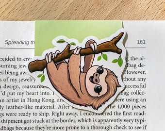 Sloth Magnetic Bookmark
