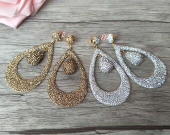 3 Pairs Alloy Dangle Earrings,Handmade water-drop earrings, with Pave Rhinestone Earring Jewelry For Women Earrings ER334