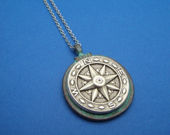 Steampunk Compass Pendant Necklace