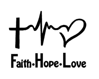 faith, hope, love machine embroidery design, fill embroidery design, instant download, fits 4''x4'' hoop