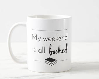 Booked - college - study - university - student - medicine - nursing - PA - science - gift - mug - present - med student - library